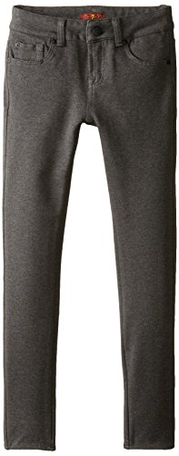 7 For All Mankind Big Girls' The Skinny Double Knit Stretch Ponte Jean In Charcoal Gray, Heather Charcoal, (Double Knit Skinny Pants)