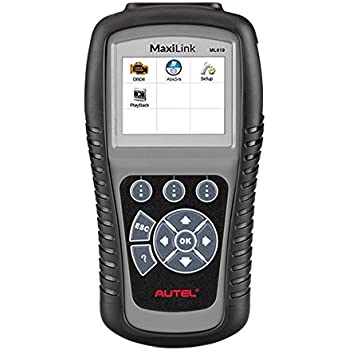 Autel MaxiLink ML619 CAN OBD2 Scanner Code Reader +ABS/SRS Diagnostic Scan Tool, Turns off Engine Light (MIL) and ABS/SRS Warning Lights
