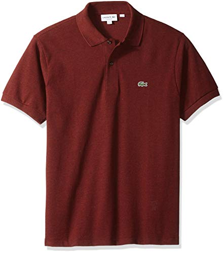 Lacoste Men's Classic Short Sleeve Chine Pique Polo Shirt, Sauge, Medium
