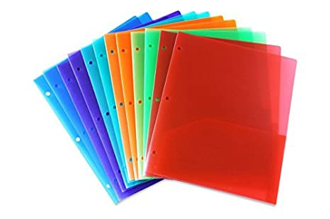 Amazon stemsfx embossed plastic folders hole punched pack of stemsfx embossed plastic folders hole punched pack of 12 folders assorted colors for letter colourmoves