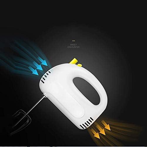 WZHZJ Blanc Fouetter, Mini électriques 5 Batteur Vitesse Réglages Fouets-Blanc, Fouet, Pâte à Crochets