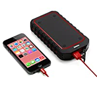 Ocathnon 10000 2-Port mAh Multi-Functional Car Jump Starter and Portable External Battery Charger with Adapters, Clamps, LED Flashlight, 12V Output and 400A Peak Current