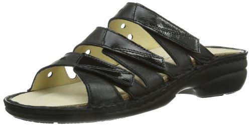 Hans Herrmann Collection HHC 026243-10 - Zuecos de cuero para mujer, color negro, talla 35 Negro (Schwarz (Schwarz))