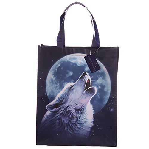 TTG(PUCK) - Borsa, motivo: lupo Una perfetta idea regalo per compleanni, Natale e altre occasioni.
