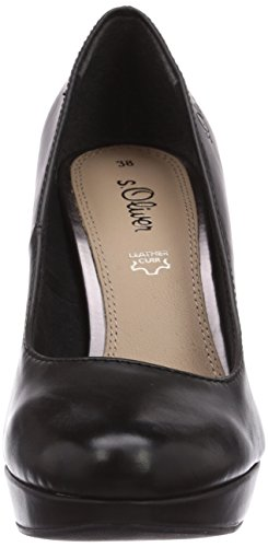 s.Oliver 22400 - zapatos de tacón cerrados de material sintético mujer negro - Schwarz (Black Nappa 022)