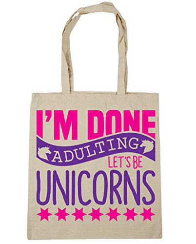 Natural Adulting 42cm Let's I'm x38cm Gym Tote Bag litres Unicorns Be Beach HippoWarehouse Done 10 Shopping q4ZPWqE