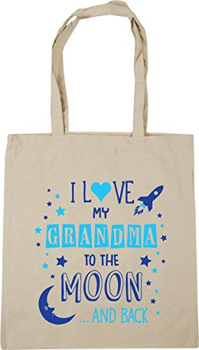 Grandma Natural to Love the Bag Shopping Moon Beach I and Tote Back x38cm Gym 42cm Blue My litres 10 HippoWarehouse xHn4qtgIwn