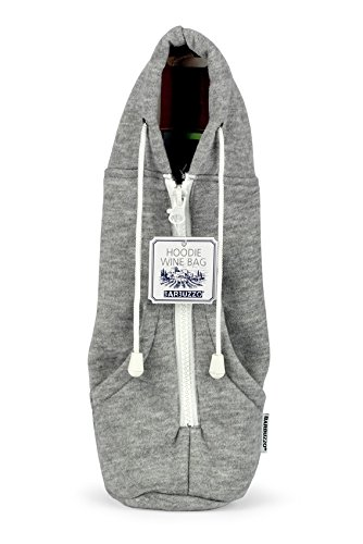 Barbuzzo Hoodie Wine Tote Gray product image