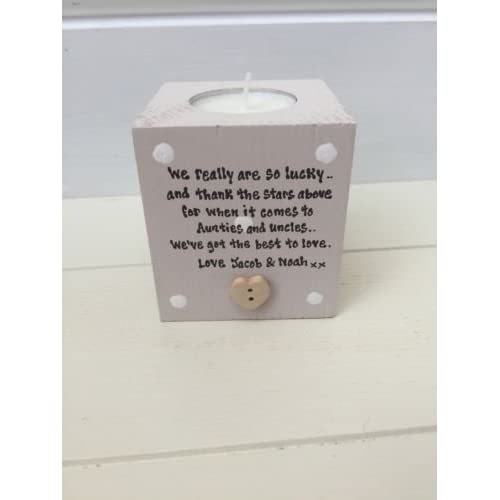 personalised candle special auntie uncle aunty great aunt gift any name you want - Christmas Gifts For Aunts