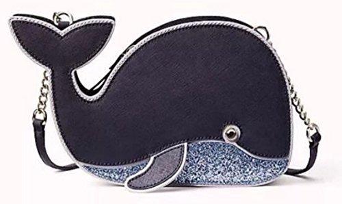 Kate Spade Whale Crossbody Off We Go Saffiano Leather Handbag Navy by Kate Spade New York