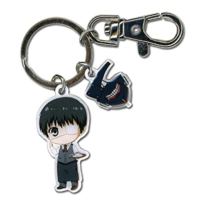 Great Eastern Entertainment Tokyo Ghoul- SD Kaneki & Mask Metal Keychain: Toys & Games