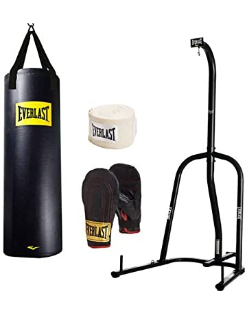 d8a36b01aa9a Everlast Single-Station Heavy Bag Stand and 100lb Heavy Bag Kit Value Bundle