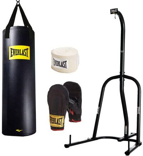 Everlast 100 lb Heavy  Bag Set  Punching BoxingGloves Hand Wraps Boxing Training