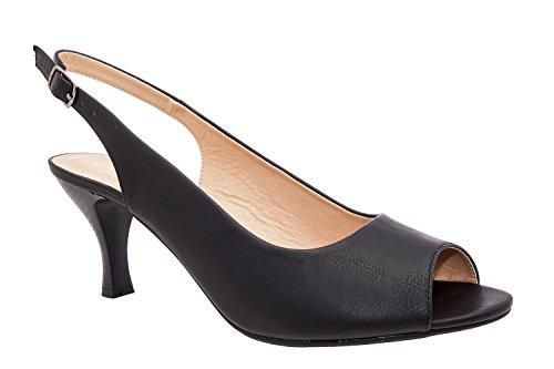 Andres Machado. AM5022. Sandalias en Soft . Mujer. Tallas Pequeñas/Grandes. 32/35,42/45.… Negro
