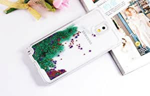 2015 Newest Unique Bling Shining Star Quicksand Style PC Plastic Back Case for Samsung Galaxy Note3 N9000 , Green Color