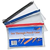 Clear Pencil Case - by Tiger - Size 200mm x 125mm