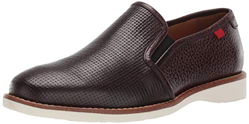 MARC JOSEPH NEW YORK Mens Leather Made in Brazil Lafayette Loafer Driving Style, Wine Nappa Basket, 10 M US