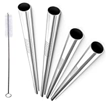 Stainless Steel Straight Extra Wide Long Drinking Straws