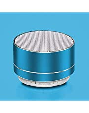 مكبر صوت بلوتوث صغير لاسلكي محمول مع صوت عالي الدقة، وقت تشغيل 4-6 ساعات، ميكروفون مدمج، فتحة بطاقة SD/TF ومصابيح LED للمنزل والسفر والرياضة والشاطئ والمشي لمسافات طويلة والتخييم (أزرق)