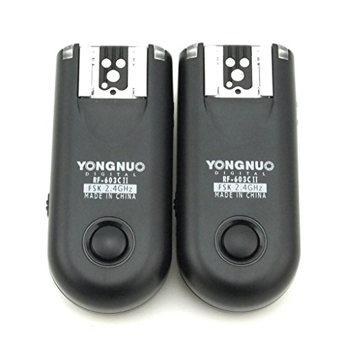 YONGNUO RF-603II C3 Wireless Flash Trigger Transceiver For Canon 1D 1Ds 5D II III 7D 10D 20D 30D 40D 50D by Yongnuo
