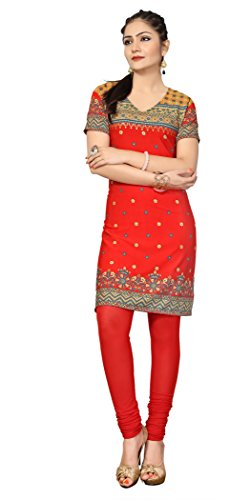 Indian Tunic Top Womens Kurti Printed Blouse India Clothing – XX-Large, L 108