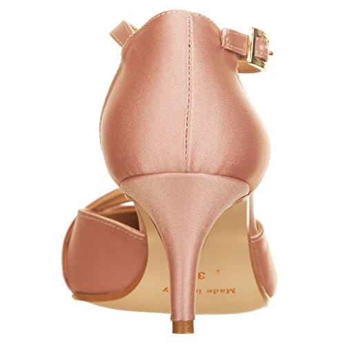 Vialescarpe 37 Mujer Eu De Vestir Zapatos Rosa Para Satén aTzawprq