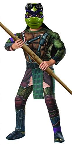 Rubies Teenage Mutant Ninja Turtles Deluxe Muscle-Chest Donatello Costume, Child Medium (Best Halloween Outfits For 2017)