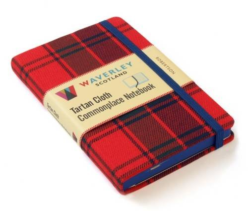 Robertson: Waverley Genuine Tartan Cloth Commonplace Notebook (Waverley Scotland Tartan Cloth Commonplace Notebooks/Gift/stationery/plaid)