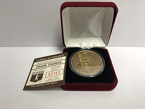 (Frank Thomas Bronze Medallion Limited Edition Mint Coin Chicago White Sox from the Highland Mint and is serial numbered to 25,000)