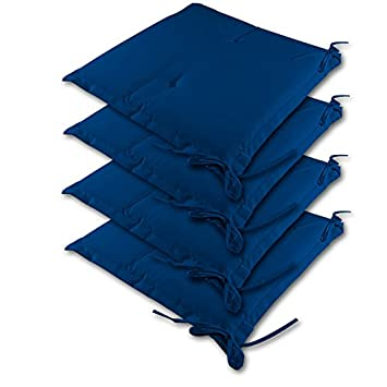 4 Galette Pour Dessus De 41cm Coussins Chaise Bleu Jardin HED29I