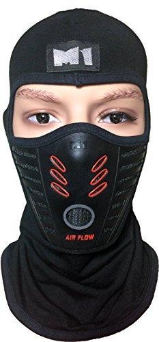 M1 Full Face Cover Balaclava Protection Filter Rubber Mask (BALA-FILT-RUBB-BKRD)