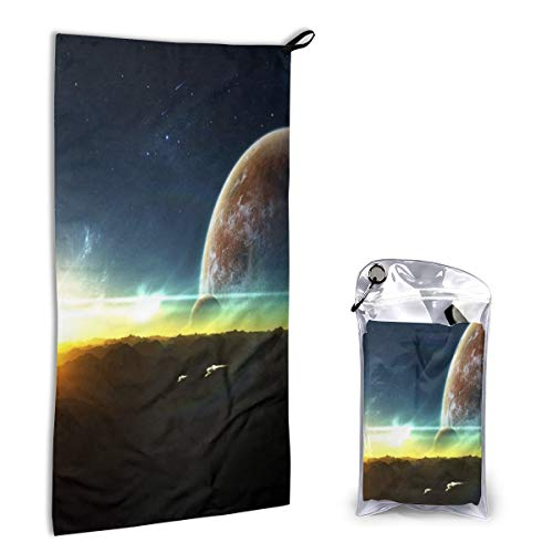 (Camp Towel The Beautiful Light of Outer Space Fast Drying Microfiber Towels Compact Travel Washcloth Hand Towel for Gym, Sports, Hiking, Backpacking, Yoga, Swimming, Pool, Boat)