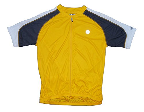 Canari Hammer Yellow Men's Large Short Sleeve Cycling Jersey