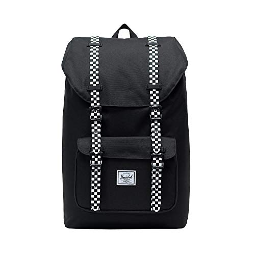 Herschel Little America Mid-Volume Backpack, Black/Checkerboard, One Size