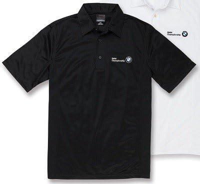 BMW Genuine Greg Norman Sorbtek Textured Solid Polo Shirt