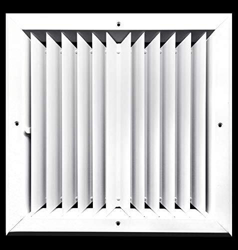 12 x 12 (in) HVAC Vent Cover - 2 Way Extruded Aluminum Ceiling Diffuser Square [Outer Dimensions: 15