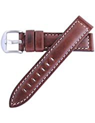 Hadley Roma Brown 22mm Mens Water Resistant and Hypo Allergenic Oil Tan Leather Watch Band