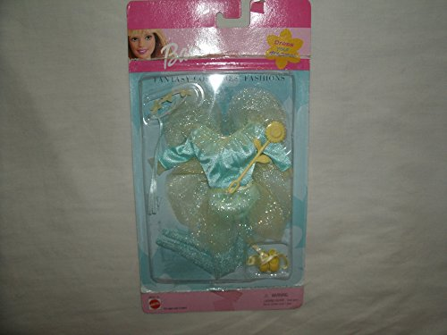 Mattel 2000 Barbie Fantasy Costume Fairy with Floral Headpiece and Sunflower Wand -
