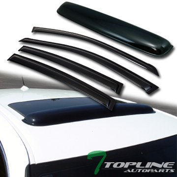 02 rain visors with sunroof visor - 8