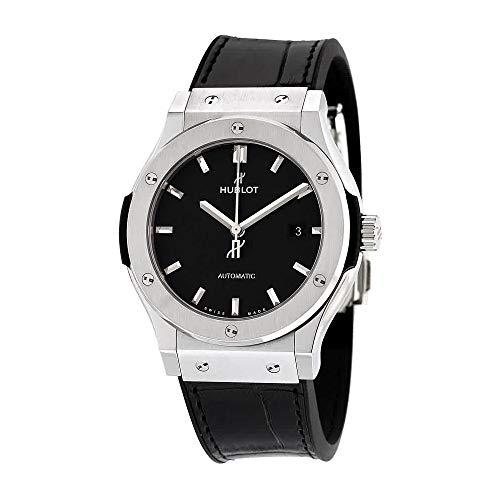Hublot Classic Fusion Automatic Black Dial Titanium Mens Watch - Classic Watch Hublot Mens