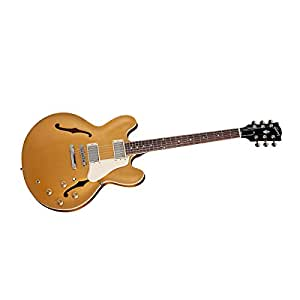 gibson memphis es 335 esdpgonh1 semi hollow body electric guitar gold musical. Black Bedroom Furniture Sets. Home Design Ideas