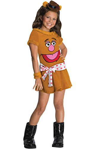 Womens Fozzie Bear Costumes (The Muppets Fozzie The Bear Girls Costume - Small)