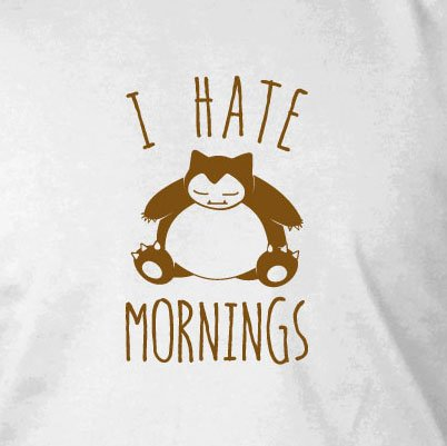 Snorl Mornings - Damen T-Shirt, Größe: XL, Farbe: schwarz