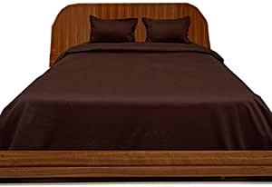 Brightlinen Chocolate Emperor (215 X 215 Cm) Duvet Set Fitted Sheet Solid(pocket Size: 22 Cm) 4pcs