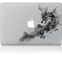 "Vati Leaves Removable Dragon Vinyl Decal Sticker Skin Art Black for Apple Macbook Pro Air Mac 13"" 15"" inch / Unibody 13"" 15"" Inch Laptop"