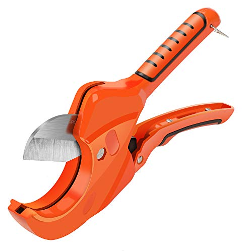 AIRAJ Reatcheting Tube cutter for cutting PVC, PEX, PPR Rubber Hose and Plumbing Pipe up to 2-1/2 in. Ideal Pipe Cutter for Home Working and Plumbers