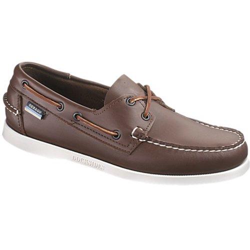 (Sebago Men's Docksides Brown Elk Boat Shoes, 5 W)