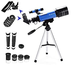 MaxUSee 70mm Refractor Telescope with Tr...