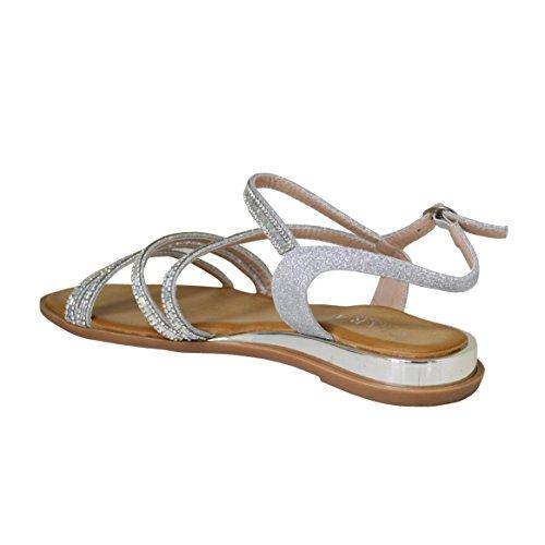 Ciara femme Ciara pour Sandales pour silver Sandales vzH6WT