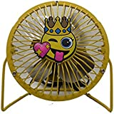 Daily Home USB Pink Crown Smile Face Four Metal Blades Fan Portable Use in Office/Home